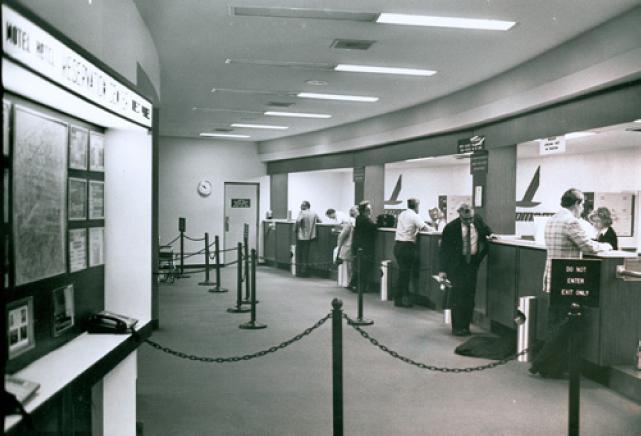 Interior of terminal
