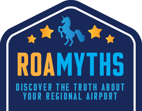 Roanoke Airport myths logo